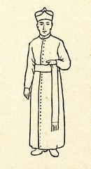Catholic priest wearing cassock and fascia