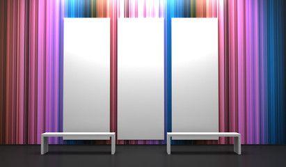 Blank display equipment