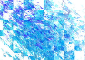 Modern blue mosaic background, Cracked and scattered tiles.