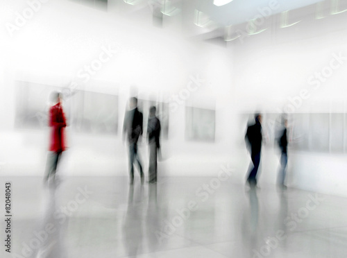 people in the art gallery center - 82048043