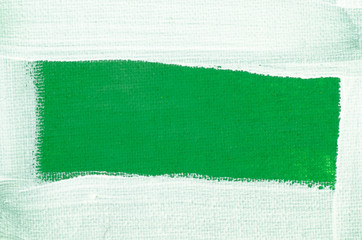 art painted border on green background