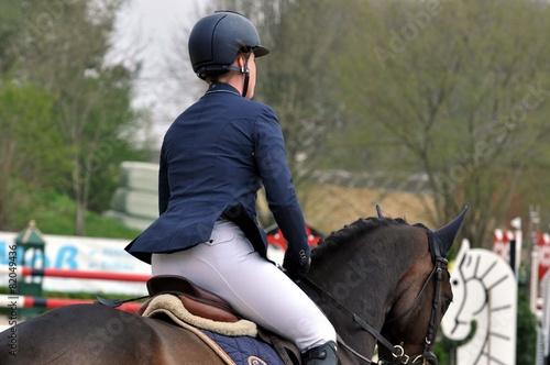 Keuken foto achterwand Paardrijden Auf dem Pferd reiten