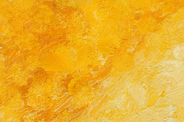 Yellow pained artistic canvas background texture