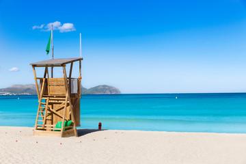 Mallorca Can Picafort beach in alcudia bay Majorca