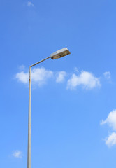Street lighting and blue background