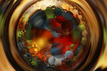 Colorful balls in glass
