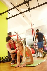 TRX suspension training with coach