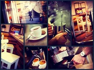 Trendy urban cafe