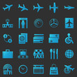 Airport icons vector set - 82050652