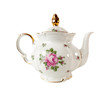 Porcelain teapot with a pattern of roses - 82050893