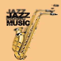 jazz music on a beige background