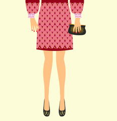 Trendy clothes for women vector illustration
