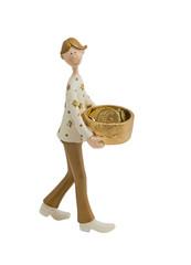 Boy with coins figurine