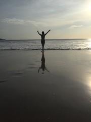 Beach joy.
