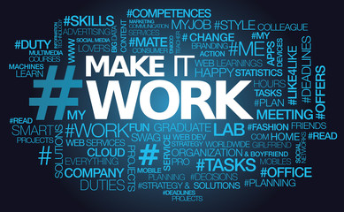 Make it work challenge words tag cloud text