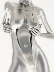 Silver female body