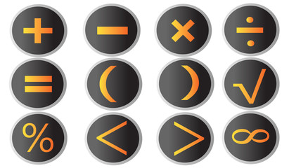 arithmetic signs buttons