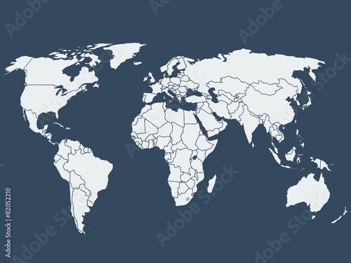 Aluminium Wereldkaarten World map vector illustration