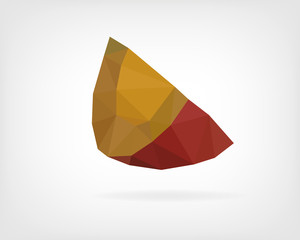 Low Poly Red Kuri Squash
