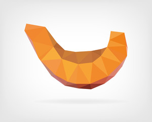 Low Poly Red Kuri Squash