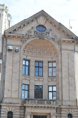 Fragment of old building in Riga.