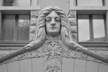 Fragment of Art Nouveau building in Riga.