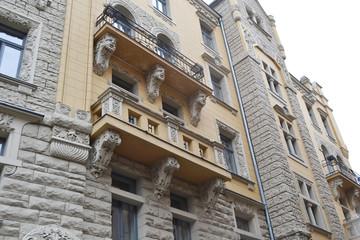 Art Nouveau building in Riga.