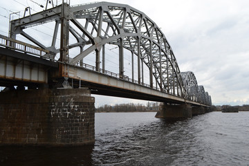 Railway bridge across the Daugava river.