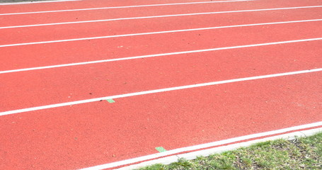 Running track with lanes , 4k view