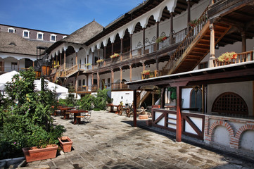 Historic Manuc's Inn in Bucharest. Romania