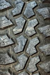 close up car tire texture