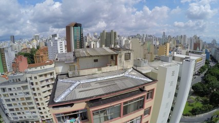 Aerial View of Popular residence in Sao Paulo, Brazil