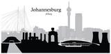 Vector illustration of skyline of Johannesburg South Africa