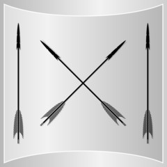 Bow Arrows Silhouette