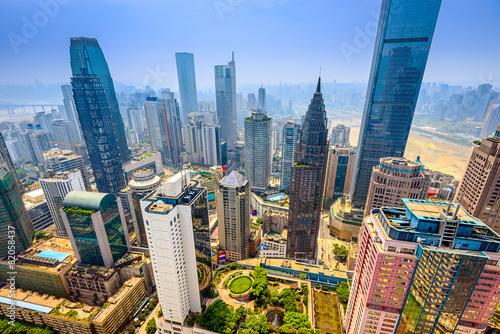 Keuken foto achterwand China Chongqing, China skyscraper cityscape.