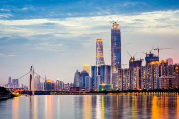 Guangzhou, China Skyline