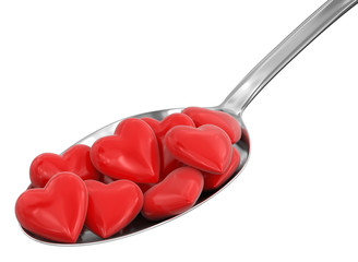 Spoon and Hearts (clipping path included)