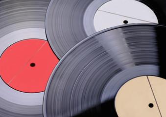 Three old vinyl records