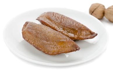 Traditional Turkish dessert called Arab Kadaif or tas kadayif