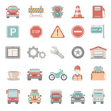 Fototapety Flat Icons - Traffic