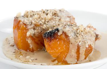 Pumpkin Dessert with Tahini Topping