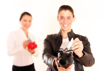 sparsame Frauen