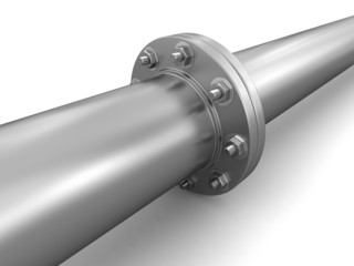Pipe fitting (clipping path included)