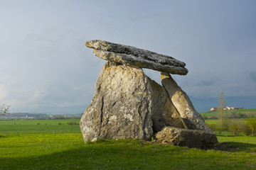 Sorginetxe dolmen in the plains of Alava