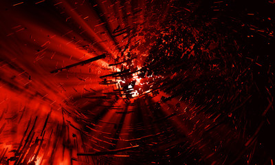 3d red explosion background