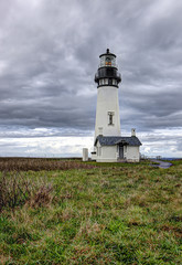 Scenic Yaquina lighthouse in Newport, Oregon.