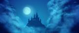 Fantasy Vector Castle Moonlight Sky - 82062202