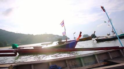 Thai Fishing Boats Nai Yang Beach