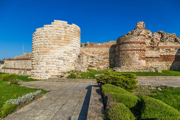 Fortress wall of the old town of Nessebar