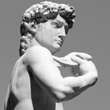 David by  Michelangelo - famous  Renaissance  italian sculpture,